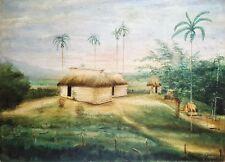 Cuban Art. Painting. Untitled, 1927. Oil on hard cardboard. Signed T M M McKee.