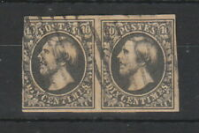 Luxembourg 1852- 1858 10c Grey Black pair used