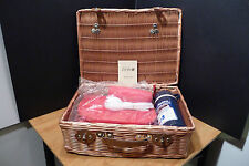 FARBIO WICKER PICNIC BASKET SET ALADDIN'S THERMO BOTTLE PLATES, CUPS,UTENSILS