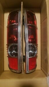 Rear Tail Light Chrome Trim Lamps One Pair For 2004-2012 Colorado Canyon