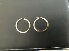 9CT GOLD  HOOP EARRINGS 1.90 GRAMS 34M DIAMETER £90