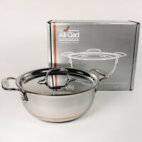 All-Clad Copper Core 2.5 Qt Rice and Grain Pan with Lid - 5-Ply Bonded Bean Pot