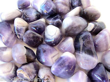 *ONE* Banded Amethyst Tumbled Stone 25mm QTY1 Healing Crystal Journeying Wicca
