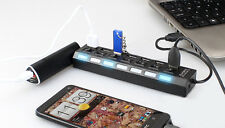 7 Port USB 2.0 Hub High Speed Sharing Switch ON/OFF Splitter for PC Laptop