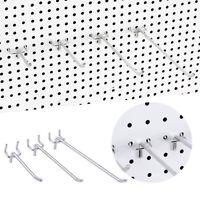 10pcs Peg Board Hooks Pack Pegboard Storage Racks For Market Shops Shelf Hanger