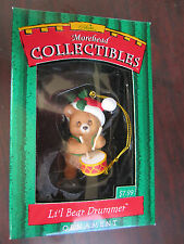 GIBSON Lil' Drummer Bear CHRISTMAS ORNAMENT NEW In BOX