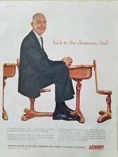 1959 Lennox air conditioning Indoor Comfort school desk classroom dad ad