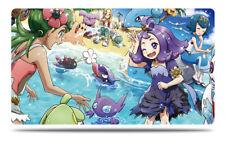 Pokemon Custom Playmat Sun & Moon Trainers Lillie Mallow Lana Seaside 2 Play Mat