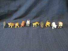 Vntg Baby Wild Animal Figures Tiger PVC Plastic Cheetah Musk Rhino Lot 10