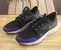 Nike Odyssey React 2 Shield Shoes Men's Black/Purple BQ1671-002 US Size 10.5