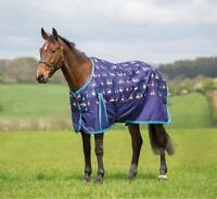 Bridleway Ontario Lightweight Fun Duck Print Lite Waterproof Horse Turnout Rug