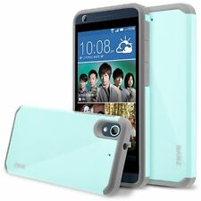 HTC Desire 626 Case, Hard Impact Dual Layer Shockproof Bumper Case - Aqua Blue