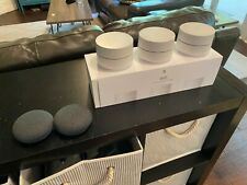 Google AC1200 Mbps Wireles Router - 3 Pack w/ 2 Google Minis