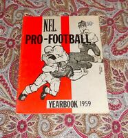 NFL PRO FOOTBALL YEARBOOK 1959 - UNITAS, GIFFORD, OTHERS!  LOOK!