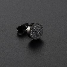1x 8mm Titanium Steel Frosted Ear Stud Earring Fashion Jewelry For Women Men