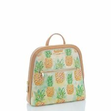 Brahmin Felicity Pompano Leather Bag Backpack Purse Pineapple New