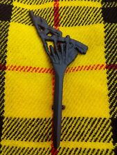 Scottish Bagpipe Kilt Pin In Matt Black Finish Brooch Kilt Pin Kilt Pins