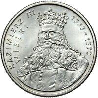 Gedenkmünze Polen - 100 Zlotych 1987 - KAZIMIERZ III WIELKI - Stempelglanz UNC