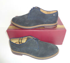 Base London Mens Leather Navy Derby Lace Up Casual Formal Shoes New UK Size 7