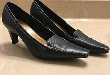 Unisa Black Heels Shoes Pointy Toe Sz9B