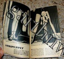 STRIPPER MARIONETTE SUZIE Q 1951 BURLESQUE DOLL  PICTORIAL NIKKOLI DALLAS MIAMI