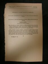 Government Report 5/23/1888 Puyallup Valley Railroad Company Indian Reservation