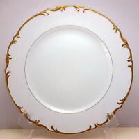 "Mikasa Venice Dinner Plate 10-3/8""  White Fine China Gold Trim 9266"