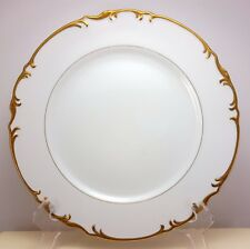 "Mikasa Venice Dinner Plate 10-3/8""  White Fine China Gold Trim 9266"