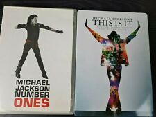 x2 Michael Jackson DVDs: Number Ones & This is it, discover the man you never..