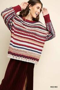 UMGEE - Berry Red Sweater - Small Medium Large