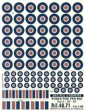 "Colorado Decals 1/48 R.A.F. TYPE C ROUNDELS 16"" & 32"""