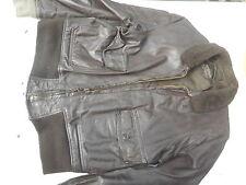 US Navy G-1 Leather Flight Jacket Size 44 MFG Star Sportswear
