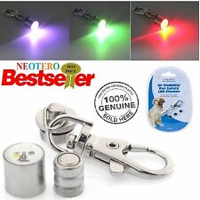 Nuevo Perro Mascota Collar luminoso LED intermitente Seguridad Ajustable Luz Etiqueta Reino Unido Stock