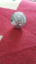 Large Chrome Police Uniform Button Standard Issue with Queens Crown