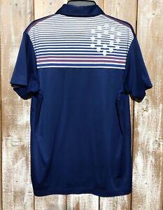 Puma Golf Dry Cell Mens Lightweight Blue & Purple/White Golf Shirt Sz Medium