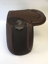 """Pony and Shetland Leather 13"""" - 14.5"""" Saddle Pad in Brown"""