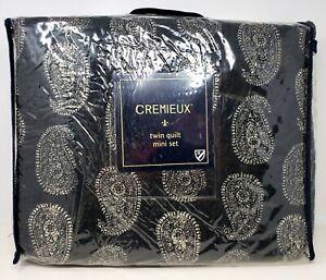 CREMIEUX  Sébastien Paisley Black & Cream  Quilt Set 2 PC SET includes sham open