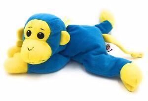 """Ty Monkey Swinger Soft Plush Stuffed Toy 1998 13"""" Blue Yellow Pillow Pals"""