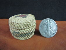 Makah or Nootka Fine Weave Miniature Basket Lidded bear grass cedar Pacific NW