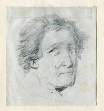 Intéressant Portrait d'homme - Dessin original ancien