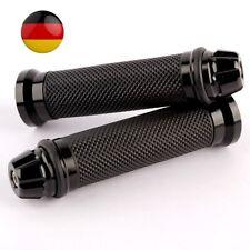 Universal Motorrad Roller Lenkergriffe Griff Griffgummis 22/24-25mm (Schwarz) DE