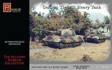 PEGASUS MODELS 7627 1/72 Scale WWII German Tiger II Tanks 2 Snap Fit FREE SHIP
