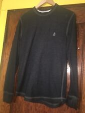 Volcom Mens Long Sleeve base layer shirt thermal size Small Black