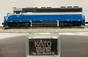 New DCC Ready Great Northern KATO N SCALE SD45 GN BIG SKY BLUE RD# 412 176-3125