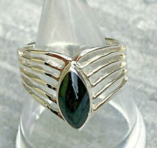 Ring mit Spitze 925 Sterling Silber Koralle Abalone Howlith Perlmutt Malachit