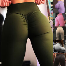Hot Women Butt Lift Pants High Waist Yoga Compression Leggings Scrunch Trousers