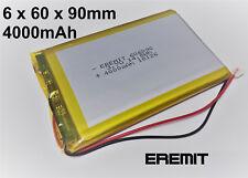 Lithium Polymer LiPo Batterie Akku 4000mAh 3.7 V 1S Powerbank PCB Tablet 29