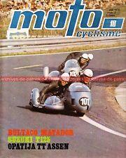 MOTOCYCLISME 18 SUZUKI T 125 ; BULTACO 250 Matador MK 3 ; Tourist Trophy 1970