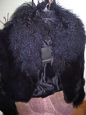 ROSSODISERA  ITALY BLUE RABBIT MONGOLIAN SHEEP FUR Coat Jacket NWT 4/6/S $600
