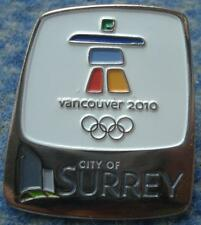 OLYMPIC VANCOUVER 2010 CITY OF SURRAY PIN BADGE